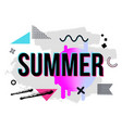 with geometric and brush painted elements summer vector image vector image
