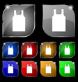 Working vest icon sign Set of ten colorful buttons vector image