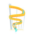 yellow plastic slide equipment for water park vector image vector image