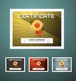Certificate Set vector image