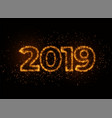 2019 writter in shiny sparkles particle effect vector image vector image
