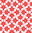 3D white pin will grid with striped floral leaves vector image vector image