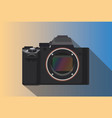 a mirrorless camera isolated with long shadow vector image