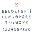 alphabet Hand drawn letters Font vector image vector image