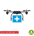 Ambulance Drone Eps Icon vector image vector image