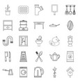 appliances icons set outline style vector image vector image