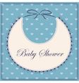 Baby shower with bib blue vector image