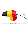 Black Yellow and Red Stripe on Belgium Whistle vector image vector image