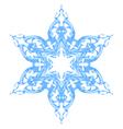 Blue ornate snowflake vector image vector image
