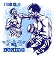 Boxing Match - Retro on grunge vector image vector image