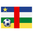 central african republic flag and soccer ball vector image vector image