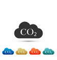 co2 emissions in cloud icon isolated vector image