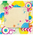 coloured doodle note vector image vector image