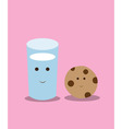 cookies and milk vector image