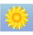 cool single weather icon - shiny sun in blue vector image