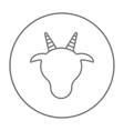 Cow head line icon vector image vector image
