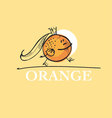 cute king orange cartoon character of mascot fruit vector image vector image