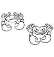Danger cartoon crabs vector image vector image
