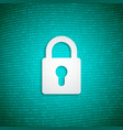 digital security lock on binary background vector image