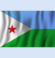 djibouti realistic waving flag national country vector image vector image