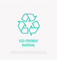 eco-friendly material recycle symbol vector image