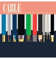 Electric Cable Wire vector image vector image