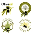 Extra virgin olive oil labels vector image vector image