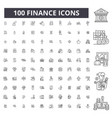 finance editable line icons 100 set vector image vector image