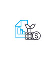 financial results at startup thin line vector image vector image