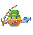 fishing turmeric powder in the character shape vector image