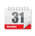 Flat Calendar Icon for Applications vector image