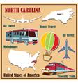 Flat map of North Carolina vector image