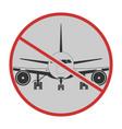 flight cancellation icon stop covid19 sign vector image vector image