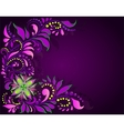 Floral ornament on a dark background vector image vector image