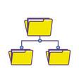 folder file data center server vector image vector image