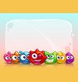 funny childish banner vector image vector image