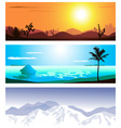 Geographical Backdrop Set vector image vector image