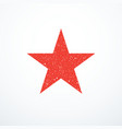 grunge red star icon vector image