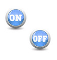 icon seton and off button for control panel vector image vector image