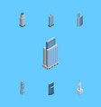 isometric construction set of business center vector image vector image