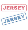 jersey textile stamps vector image vector image
