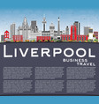 liverpool skyline with color buildings blue sky vector image vector image