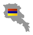 map with flag of Armenia vector image vector image
