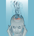 migraine attack vector image vector image