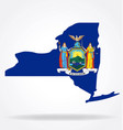 new york ny state flag map shape vector image vector image