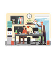 office daily routine flat style design vector image