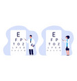 ophthalmologists characters oculists checking vector image