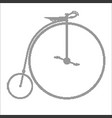 penny farthing halftone vector image