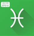 pisces zodiac sign icon business concept vector image vector image