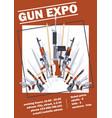 pistols military weapon gun retro firearm vector image vector image